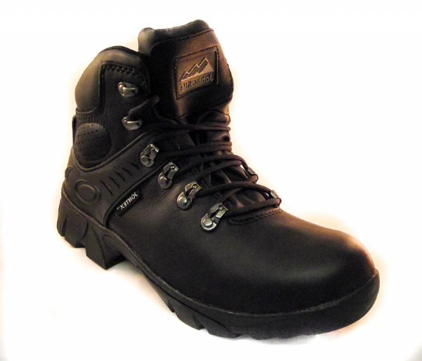 Waterproof Slip resistant black leather walking or uniform work boot NON SAFETY